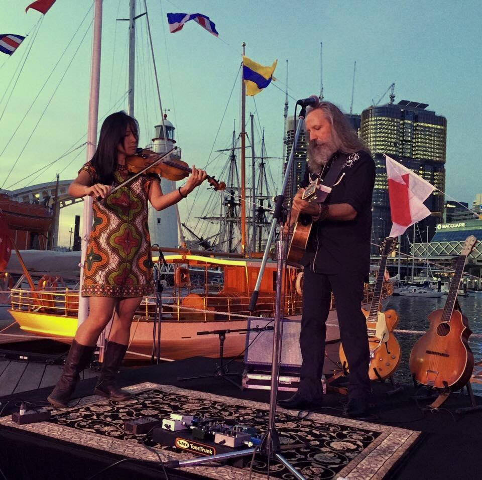 Myself and Carlyn Chen at the Australian Maritime Museum. Photo: Paul Sun